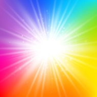 Rainbow starburst background