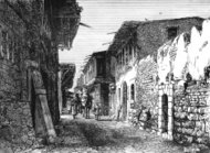 Street in Damascus - Victorian engraving