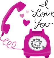 I Love You Retro Telephone