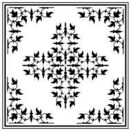 Ornament border design elements with corners