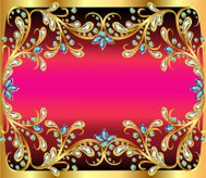 illustration background with precious stone