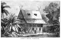 The Chief's House, Tamatave, Madagascar - Victorian engraving