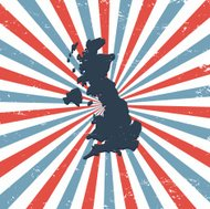 Great Britain on the map