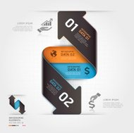 Abstract business arrow infographics template.