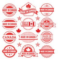 Made in the Canada Grunge Badge Set