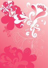 pink floral composition
