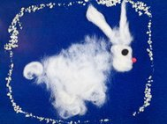 child's drawing - fluffy bunny