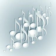 Music note background design.