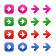 Arrow sign direction icon circle square web internet button