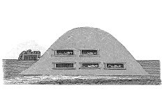 Prehistoric chamber tomb (antique wood engraving)