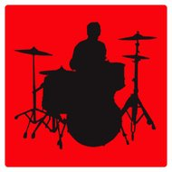 Drummer Silhouette (vector illustration)