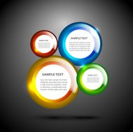 Vector colorful glossy circles background