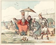 Canute and His Courtiers (Victorian cartoon)