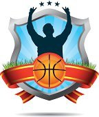 Basketball winners emblem