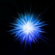 Abstract blue star. Vector