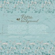 Vintage flowers background with text field