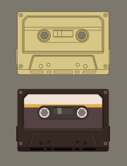 Old-fashioned music cassette