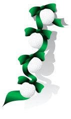 Golf Christmas Ribbon