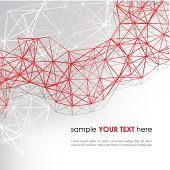 Abstract background with red diagonal lines