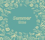 Summer time vector card