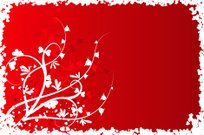 Valentine floral background, vector
