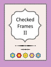 Checked frames, borders and page design elements
