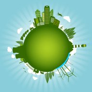Green environment sustainable energy world concept