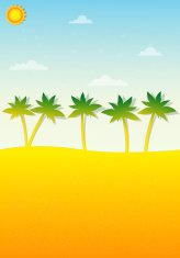 tropical landscape with palm trees