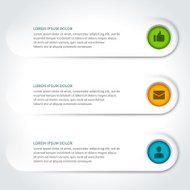Vector paper lines and icons design template for web site