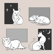Funny cats sketches set two