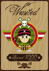 Bandana Pirate Wanted Poster
