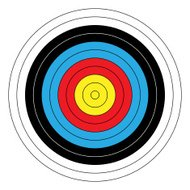Archery Target Front View