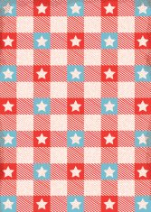 Red white and blue star table cloth background