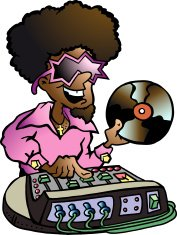 Illustration of an Retro Disco DJ