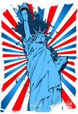 Statue of Liberty grunge background