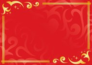 vector red and golden frame