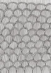 Hand Drawn Doodle Style Scalloped Pattern