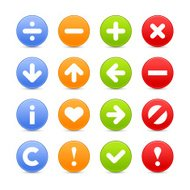 Satin icon set web internet circle button basic pictogram