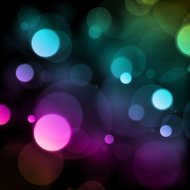 Colorful Bokeh Blurry Lights Vector Background