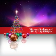 Abstract celebration background with Christmas tree and decorati