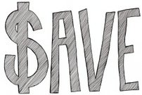 Hand Lettered Save with a Dollar Sign
