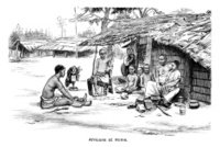Africans at home - Victorian engraving