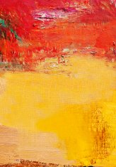 Abstract painted yellow and red art backgrounds.