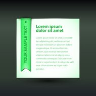 Vector banner with green ribbon