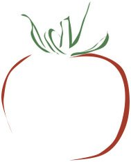 stylized illustration of a tomato