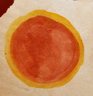 cross old vintage brown circle watercolor red yellow abstract ba