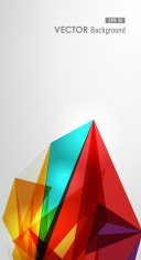 Diversity vibrant colors triangle background