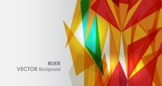 Diversity vivid colors triangle background