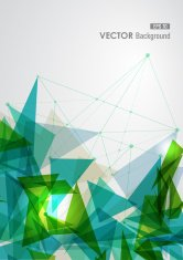 Diversity green tones triangle background