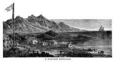 Greenland village - Victorian engraving